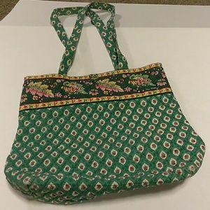 Vera Bradley vintage Geenfield print shoulder bag.